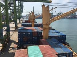 "MV ""Kota Akbar"" - Cargo Deck (Port of Singapore)"