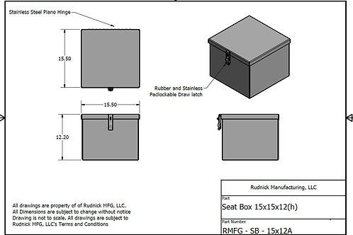 Diamond Plate Seat Box (15x15)