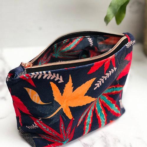 Shimmer Velvet Zipper pouch