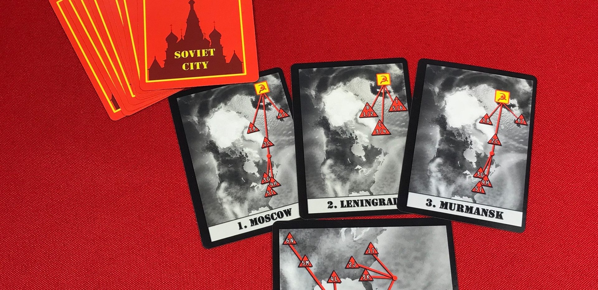 Soviet City Cards