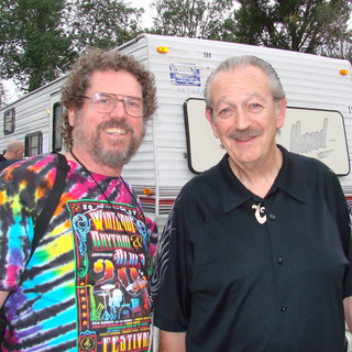 Billy with Charlie Musselwhite at Winthrop Rhythm & Blues Festival 200 at WWinthrop Blues Festival 2006 Billy played with Nicole Fournier and her 3 lb Universe