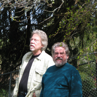 Stapes and Billy in Stapes's garden.