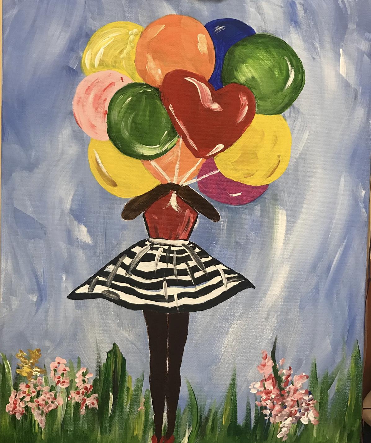 balloon girl painting