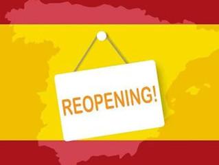 De heropening van Spanje…
