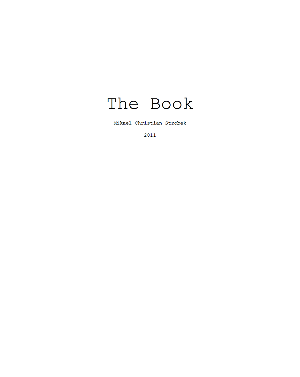 The Book. 2011