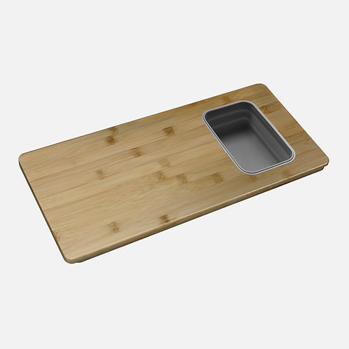 STYLISH OVER THE SINK SERVING BOARD WITH 1 CONTAINER A-913