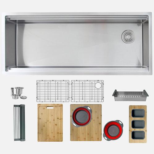 STYLISH 45'' Versa 45 S-615W Workstation Single Bowl Kitchen Sink