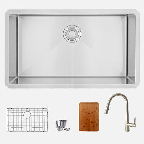 STYLISH Kitchen Sink S323XG + Kitchen Faucet K135B+Cutting Board A904