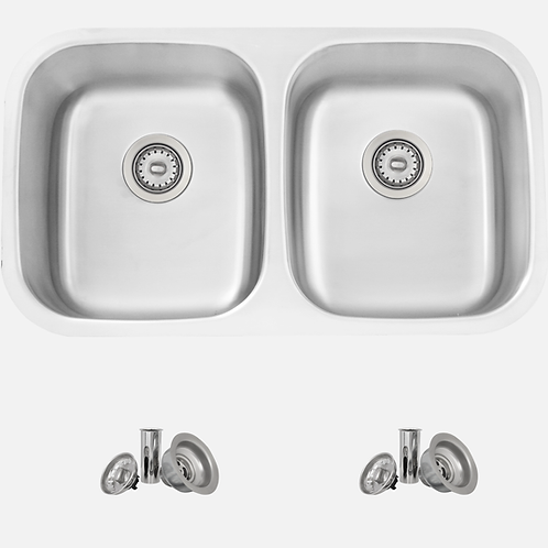 STYLISH 32'' JASPEL S-200XT Double Bowl Kitchen Sink
