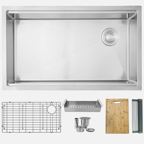 STYLISH 33'' VERSA33 S-613W Workstation Single Bowl Kitchen Sink