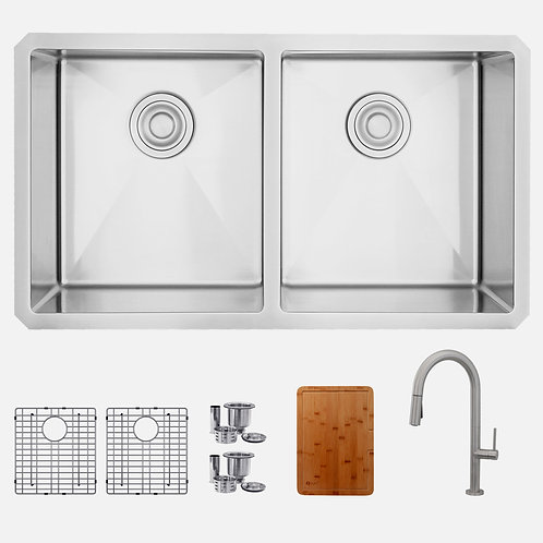 STYLISH Kitchen Sink S301 + Kitchen Faucet K141B+Cutting Board A904