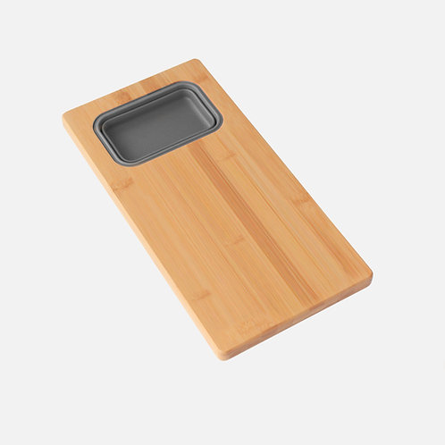"""AZUNI 17"""" Workstation Sink Bamboo Cutting Board Set with Container A912"""
