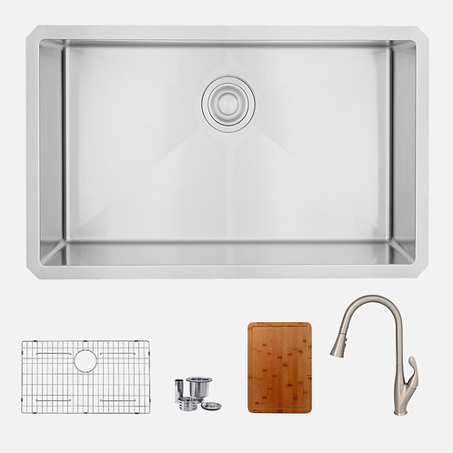 STYLISH Kitchen Sink + Kitchen Faucet +Cutting Board