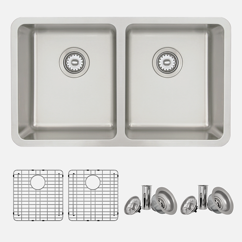 STYLISH 30'' AVILA S-414TG Double Bowl Kitchen Sink