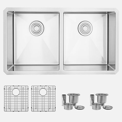 STYLISH 32'' ZIRCON S-301G Double Bowl Kitchen Sink