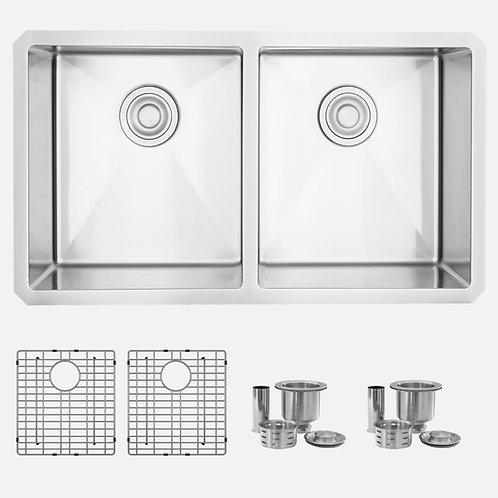 STYLISH 32'' ZIRCON S-301XG Double Bowl Kitchen Sink