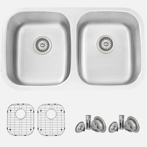 STYLISH 32'' JASPEL S-200TG Double Bowl Kitchen Sink