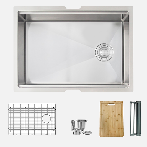 STYLISH 27'' Versa27 S-627W Workstation Single Bowl Kitchen Sink