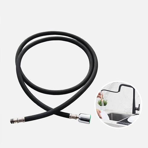 PULL DOWN REPLACEMENT SPRAY BLACK HOSE FOR KITCHEN FAUCET, H-21