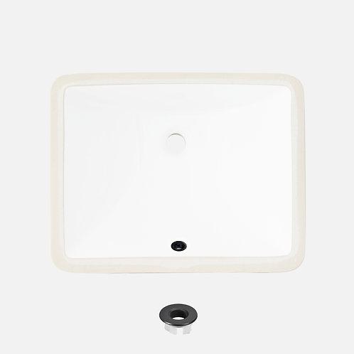 STYLISH 18'' Undermount Bathroom Sink TRENDY P-201A