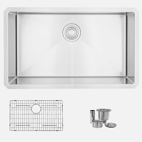 STYLISH 32'' RUBY S-313XG Single Bowl Kitchen Sink