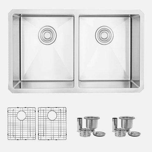 STYLISH 30'' ONYX S-304XG Double Bowl Kitchen Sink