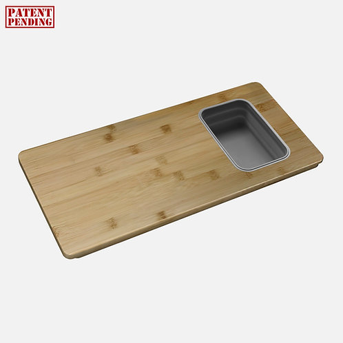 OVER THE SINK SERVING BOARD WITH 1 CONTAINER A-913