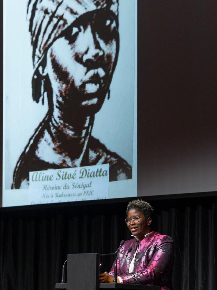 Rokhaya Marieme Balde, finaliste Prix Art Humanité 2020 ©Julien Gremaud