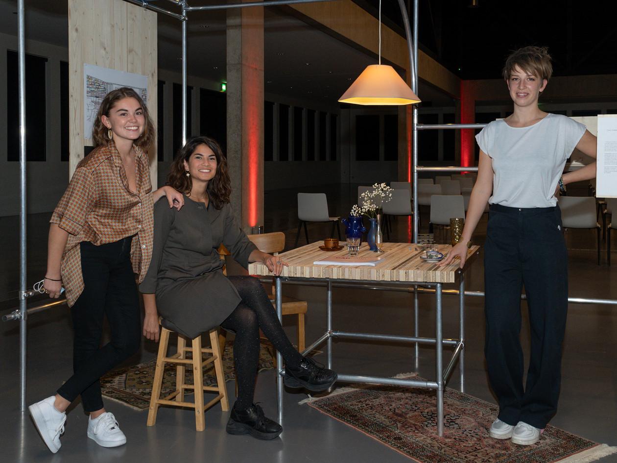Marion Vergne, Karen Pisoni et Dany Champion Prix du Pubic Prix Art Humanité 2020 ©Julien Gremaud