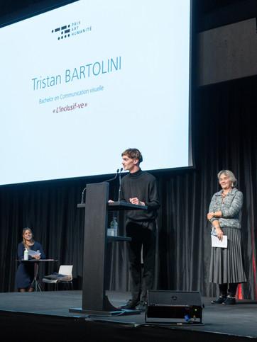 Tristan Bartolini, lauréat du Prix du Jury Prix Art Humanité 2020 ©Julien Gremaud