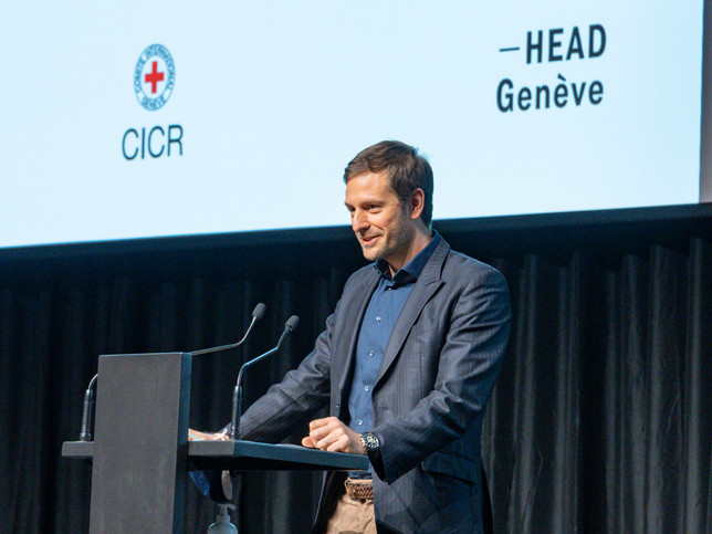 Pascal Hufschmid, Directeur du MICR Prix Art Humanité 2020 ©Julien Gremaud