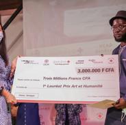 Yacinthe Fadioul Niang, 1er lauréat du Prix et Valentina Berlasconi