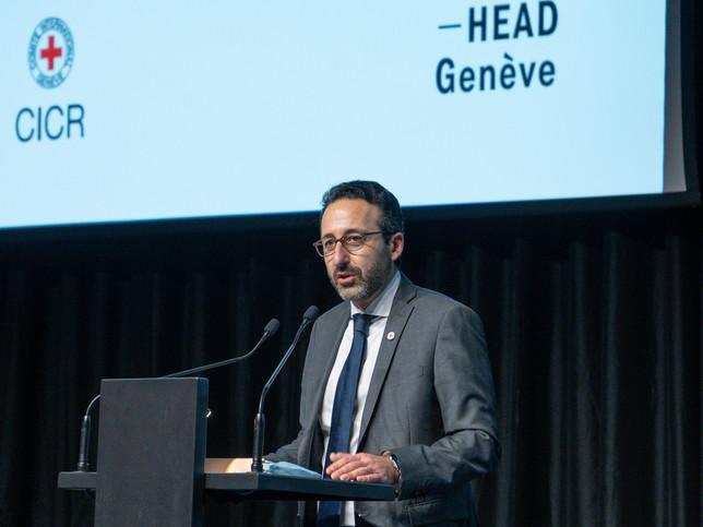 Robert Mardini Directeur général du CICR Prix Art Humanité 2020 ©Julien Gremaud