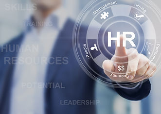 Human resources concept with manager in