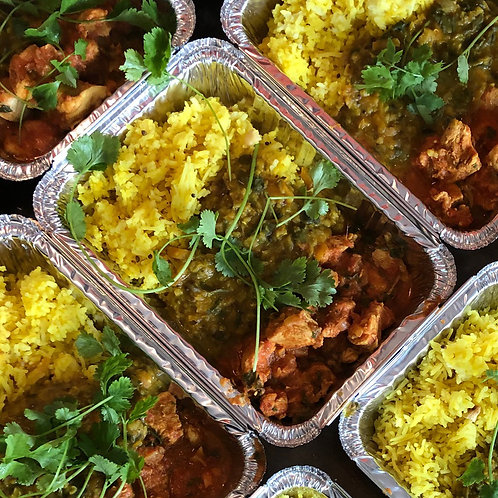 Chicken Curry with Dhal & Lemon Cashew Rice