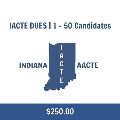 IACTE DUES   1 – 50 Candidates