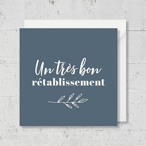 """Carte de voeux """"Un très bon rétablissement"""""""
