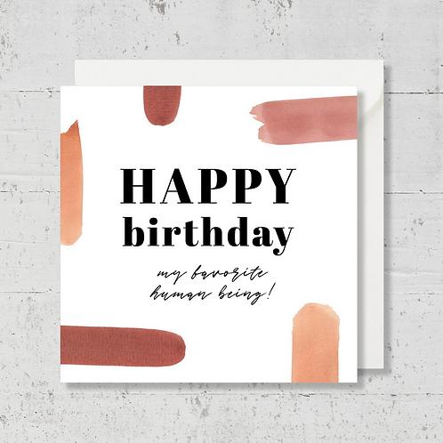"""Carte de voeux """"Happy birthday"""""""