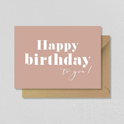 "Carte de voeux double ""Happy Birthday"""