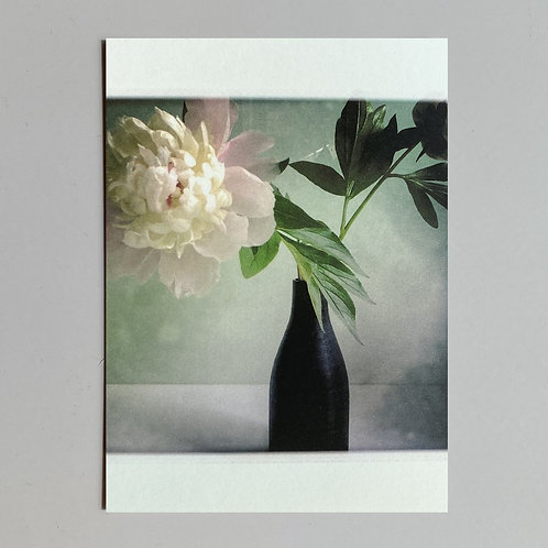 """Carte de voeux """"Vase et pivoine"""""""
