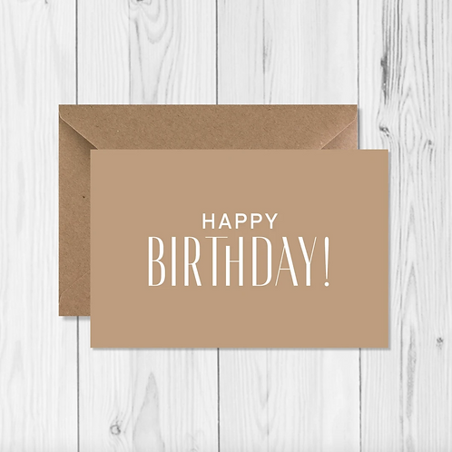 "Carte de voeux ""Happy birthday"""