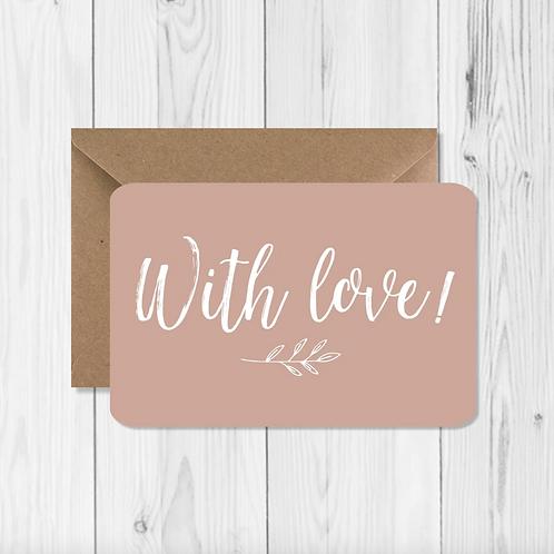 """Carte de voeux """"With love"""""""