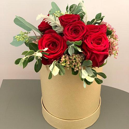 """Boîte de fleurs """"Roses rouges"""""""