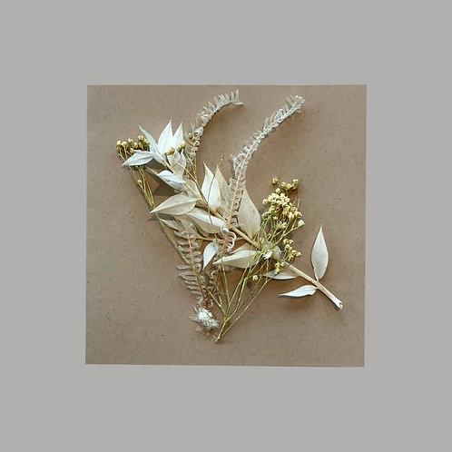 """Carte de voeux beige """"Fleurs séchées"""""""