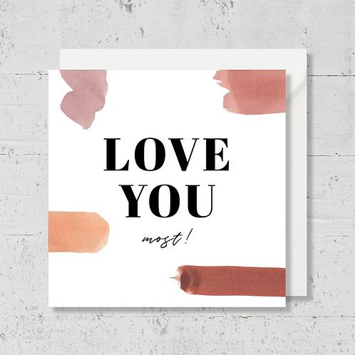 "Carte de voeux ""Love you"""