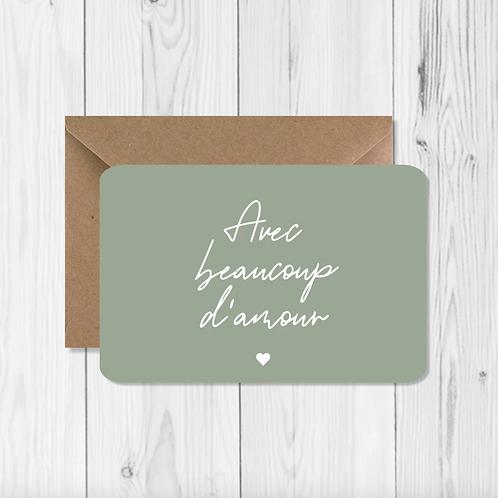 """Carte de voeux """"Avec beaucoup d'amour"""""""