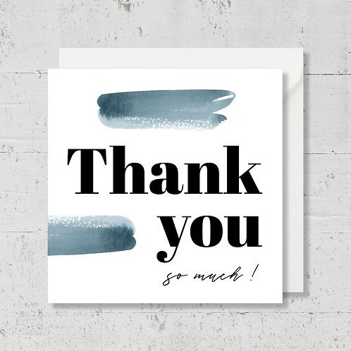 """Carte de voeux """"Thank you"""""""