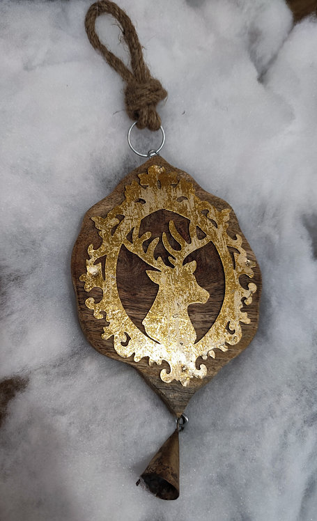 Guirlande cerf bois/metal