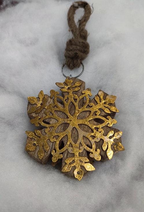 Guirlande flocon bois/metal