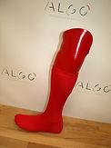 Prothèse tibiale personnalisée rouge
